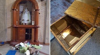 Roban Sagrario y profanan Eucaristía en iglesia Santa Rosa de Lima en Caracas