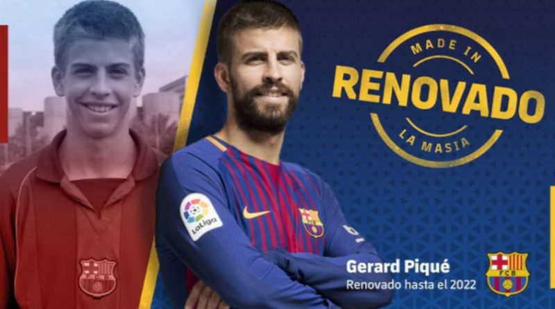 """El central internacional español Gerard Piqué ha renovado por tres años más con el FC Barcelona hasta junio de 2022, informó este jueves el club azulgrana. """"El FC Barcelona y el jugador han llegado a un acuerdo para renovar su contrato hasta el 30 de junio de 2022, con una cláusula de rescisión de contrato de 500 millones de euros (611 millones de dólares)"""", afirmó el Barça en un comunicado. Piqué, de 30 años, amplia en tres años su anterior contrato que finalizaba en junio de 2019, aumentando en 300 millones de euros su cláusula de rescisión. """"En los próximos días se anunciará cuando tendrá lugar el acto oficial de firma del nuevo contrato"""", informó el Barça. Piqué, que no esconde su deseo de ser algún día presidente del Barcelona, se ha convertido en un emblema del club azulgrana. Formado en las categorías inferiores de la entidad, lo ha ganado prácticamente todo con el Barcelona y la selección española. Desde que volvió al Barça en la temporada 2008/2009, tras su paso por Mánchester United y Zaragoza, el central ha ganado 3 Ligas de Campeones, 6 Ligas españolas, 5 Copas del Rey, 5 Supercopas de España, 3 Supercopas de Europa y 3 Mundiales de Clubes. A este palmarés se une la Eurocopa de 2012 y el Mundial de Sudáfrica-2010 logrados con la selección española, de la que también es un pilar fundamental. View image on Twitter View image on Twitter FC Barcelona ✔ @FCBarcelona [BREAKING NEWS]@3gerardpique has agreed a new @FCBarcelona contract until 2022 Full story 👉 http://ow.ly/ZofW30hQXzr 🔵🔴 #Pique2022 6:10 AM - Jan 18, 2018 205 205 Replies 3,307 3,307 Retweets 12,333 12,333 likes"""