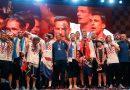 Selección croata recibió multitudinario homenaje