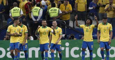 Brasil goleó 5-0 a Perú y se adueñó del Grupo A