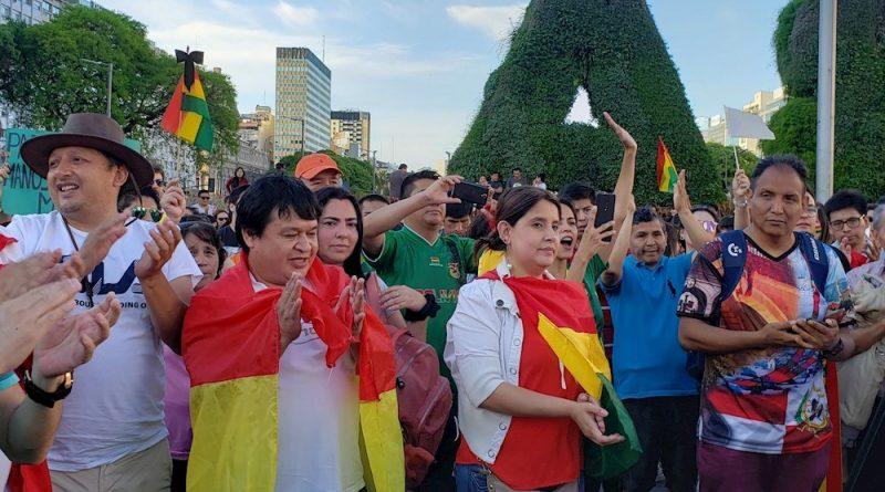 La oposición celebra en las calles de Bolivia