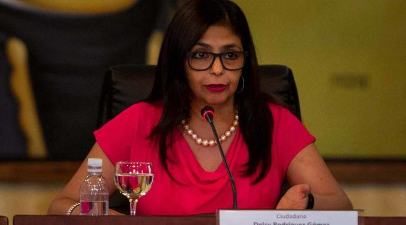 Parlamento Europeo debatirá paso de Delcy Rodríguez por España