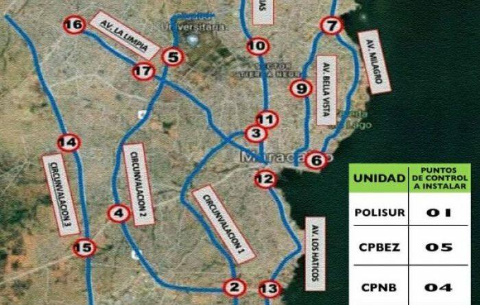17 puntos de control restringirán paso vehícular en Maracaibo